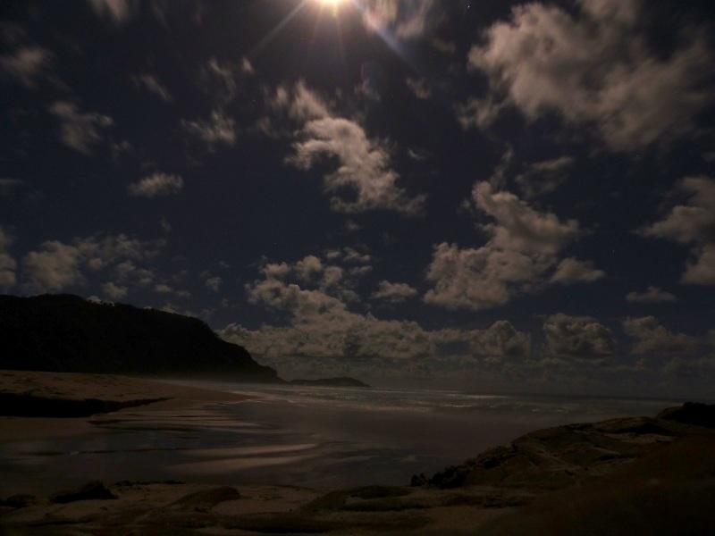 Moonlit bay lighter real